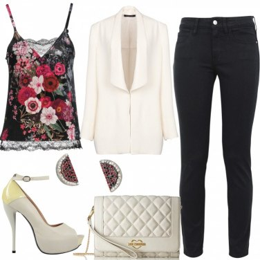 Outfit Top a fiori