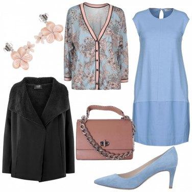 Outfit Rosa e celeste
