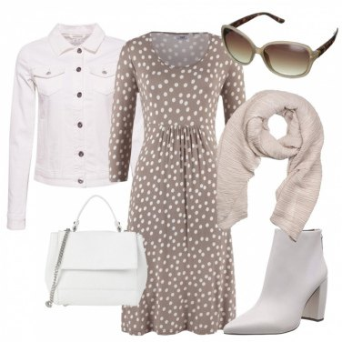 Outfit Pois su base tortora