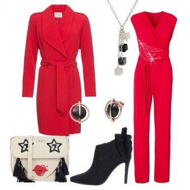 Outfit Rosso per la serata