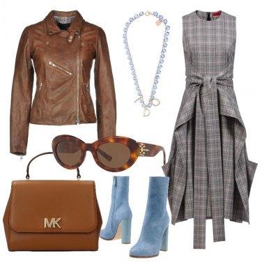 Outfit Trendy in Principe di Galles e pelle