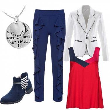 Outfit Una punta di blu