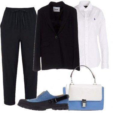 Outfit In blu tutto il giorno