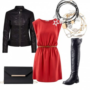 Outfit Red dress