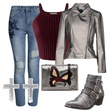 Outfit Silver rock