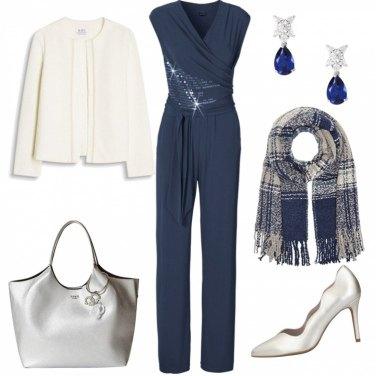 Outfit Gocce di blu