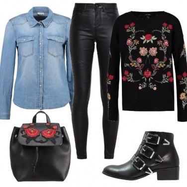 Outfit Pomeriggio in nero