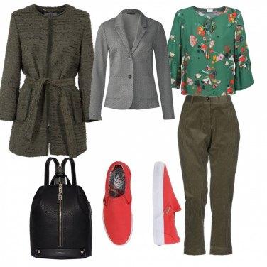 Outfit Trendy, tonalita\' verdi con fiori