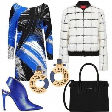 Outfit Pennellate blu e nere