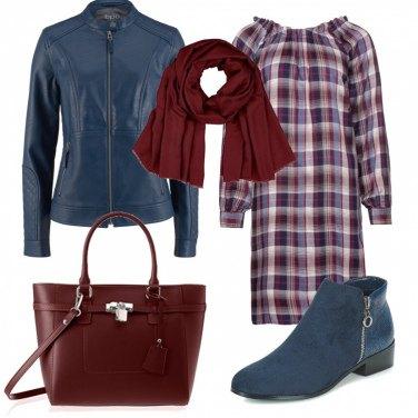 Outfit Look semplice a quadretti