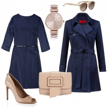 Outfit Trench in blue