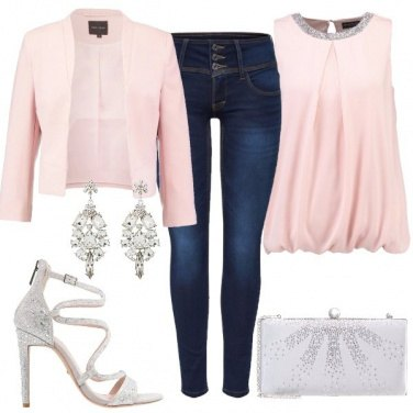 Outfit Raffinata in jeans