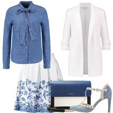 Outfit Azzurra come il cielo di primavera