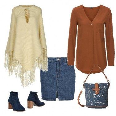 Outfit Primavera in jeans e frange