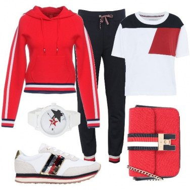 Outfit Sportiva con Tommy Hilfiger