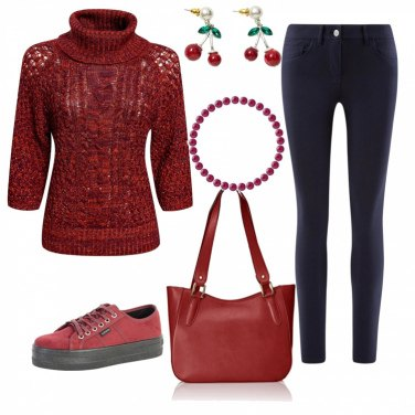 Outfit Rosso sportivo