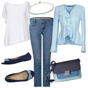 Outfit In ufficio con jeans e ballerine