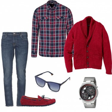 Outfit Cardigan e mocassini