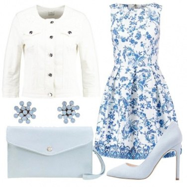 Outfit Giubbino in jeans bianco