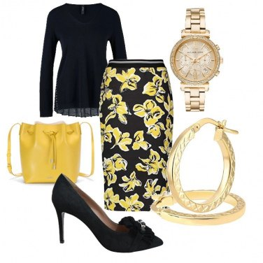 Outfit Trendy in Yellow