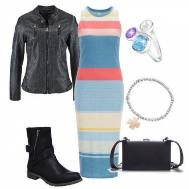 Outfit Righe fashion