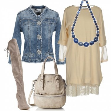 Outfit Giacca in jeans e cuissard