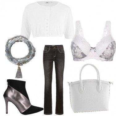 Outfit Pizzi e bianco