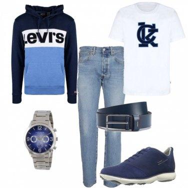 Outfit Jeans e felpa per il pomeriggio