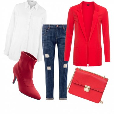 Outfit Rosso low cost