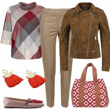 Outfit Rosso e marrone