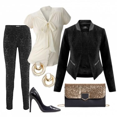 Outfit Tailleur damascato