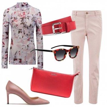 Outfit Rosa e corallo in ufficio