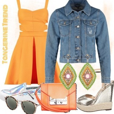 Outfit Tangerine Trend