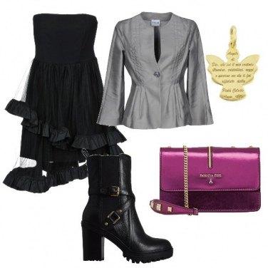 Outfit Cerimonia rockeggiante
