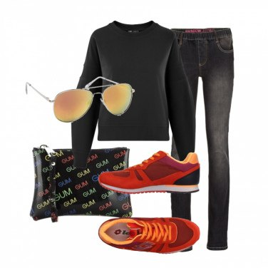 Outfit Le sneakers arancio
