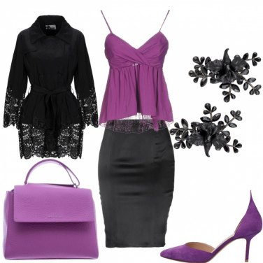 Outfit Serata in purple
