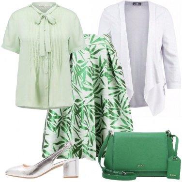 Outfit Verde come il prato
