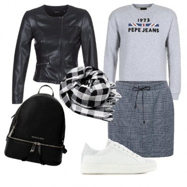 Outfit Gonna & sneakers