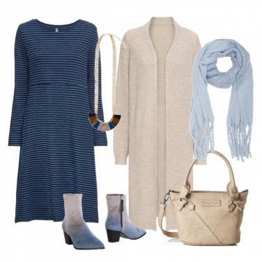 Outfit Blu millerighe per te