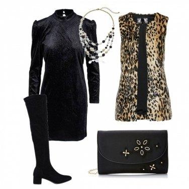 Outfit Mini abito con cuissard