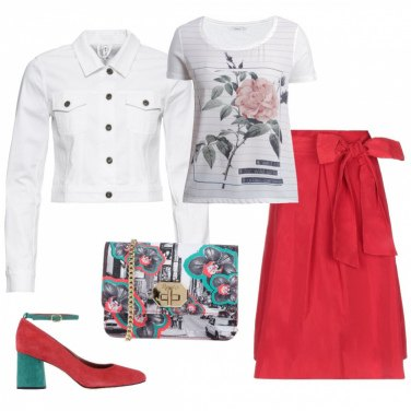Outfit Ci son rose, e rose...