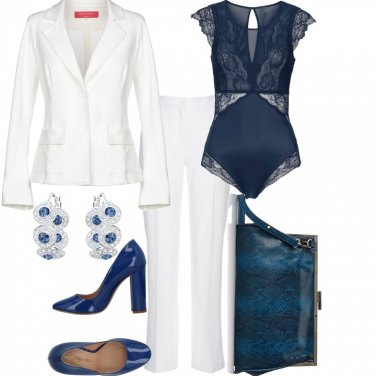 Outfit Tailleur pantalone bianco#1