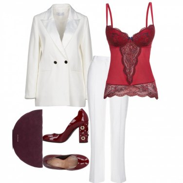 Outfit Tailleur pantalone bianco #2