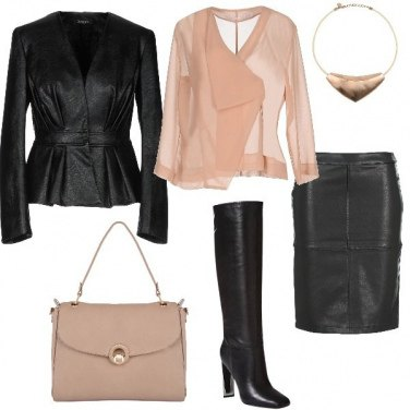 Outfit Bon ton e pelle