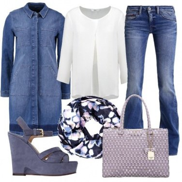 Outfit Denim in primo piano