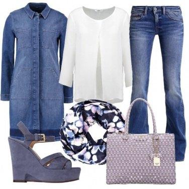 Outfit Denim in primo piano