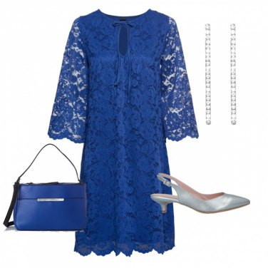 Outfit Blu & argento