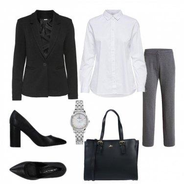 Outfit Camicia bianca low cost 2: ufficio