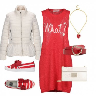 Outfit Comoda in rosso