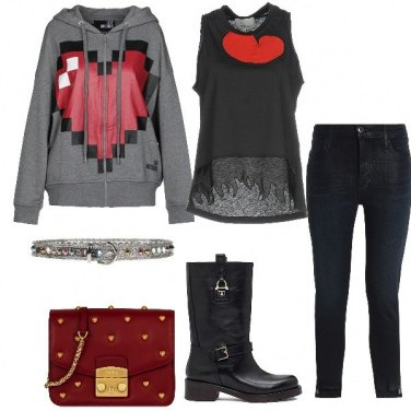 Outfit Casual in love